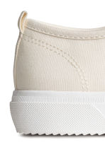 Canvas trainers - Natural white - Kids | H&M CN 4